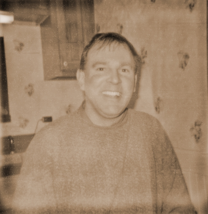 The Author, As Captured With Impossible 600 UV+, By His Son