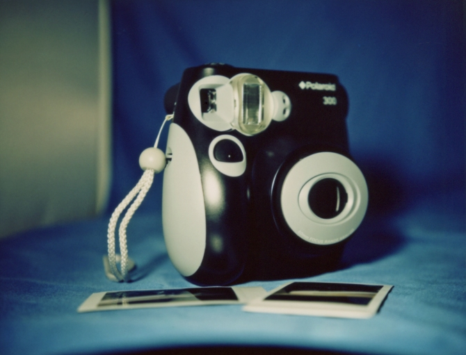 Polaroid 300 Instant Film Camera, Photographed With A Polaroid 240, Close Up Kit, Fuji FP100C Color Film
