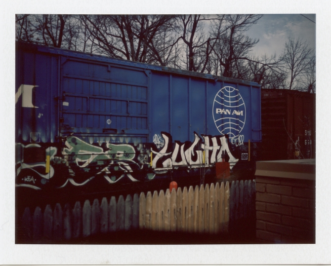 Pan Am Train, Covered With Graffiti