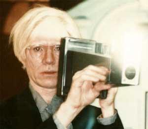 Warhol, With His Polaroid Big Shot