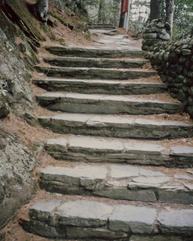 Stairs, Leading To The Gazebo
