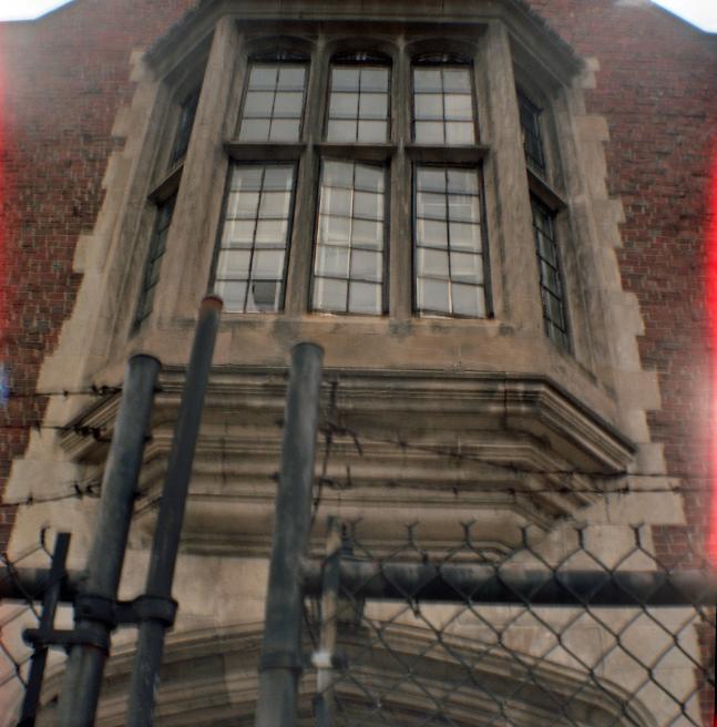 Elm Park Fire Alarm & Telegraph Building Window, Worcester Massachusetts