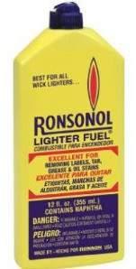 Ronsonol, A Camera Repair Person's Best Friend (AKA Lighter Fluid)