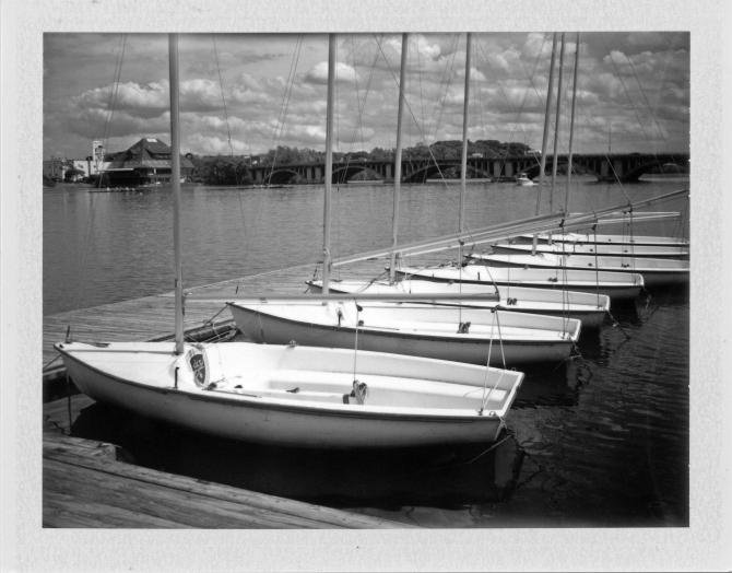 Regatta Point, Worcester, Massachusetts, Polaroid 240, Cloud Filter, Fuji FP100B