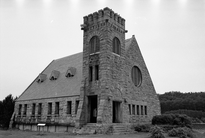 The Old Stone Church, Up Close- A Very Popular Central Mass. Photographic Subject
