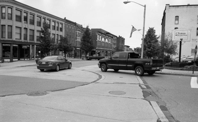 Clinton, Massachusetts, Downtown, 6/12/11 Nikon N80, Nikkor 50mm f/1.8D, Kodak TriX, D-76