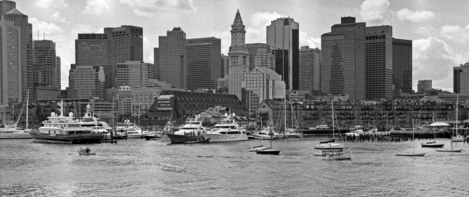 The Boston Skyline, As Seen From The Spirit Of Boston