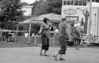 Cold, Unfriendly New Englanders Typically Do Not Dance, But A Few Actually Did This Day.