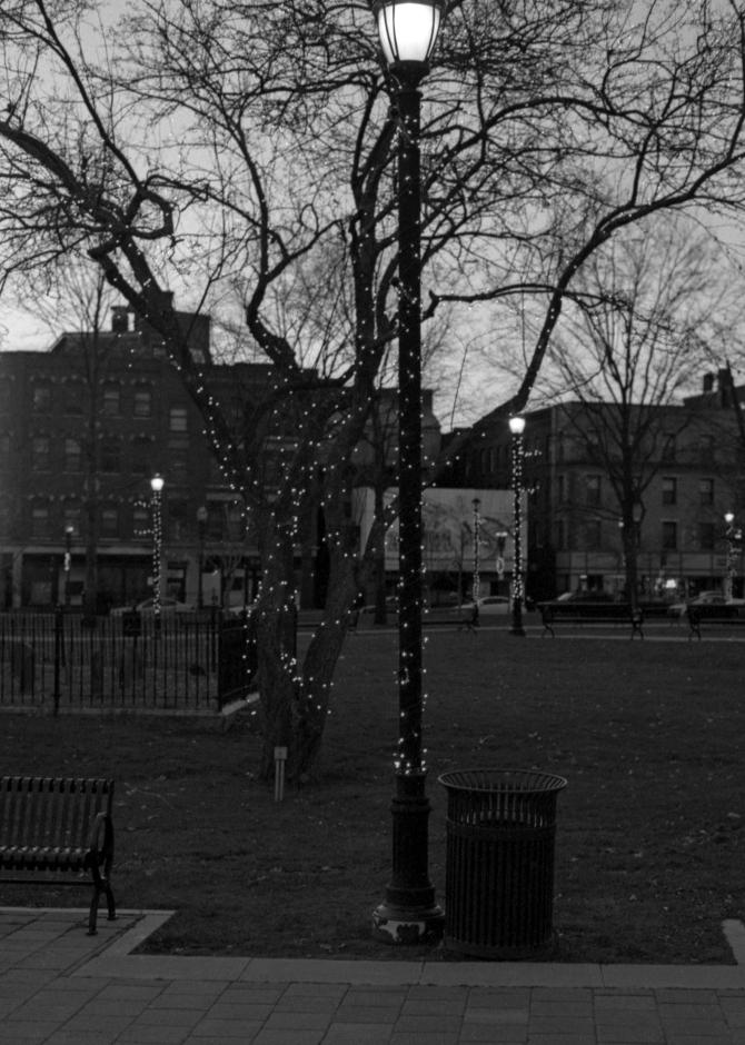 Street Lanterns Are Decorated