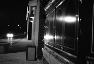 Hot Dog Diner At Night