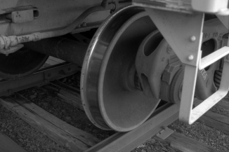 Freight Car Wheels Up Close