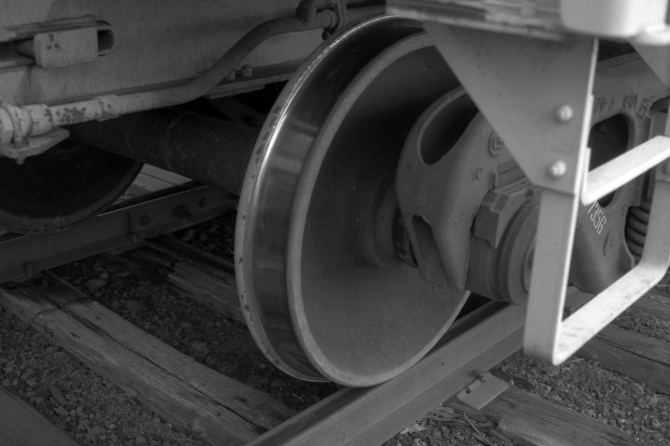 Freight Car Wheels Up Close