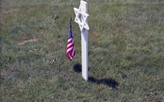 Each memorial has a flag.