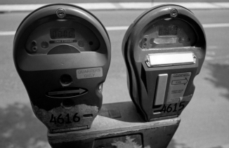 Favorite shot of the day- parking meter from about 7 inches away.