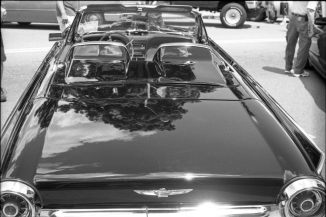 Ford Thunderbird only needs American Grafitti's Suzanne Somers in the back seat- when she was hot, pre-botched Botox lips.