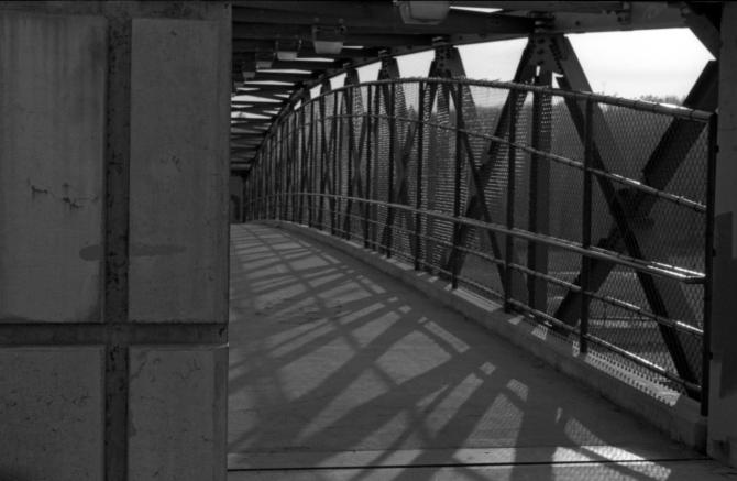 Inside the overpass