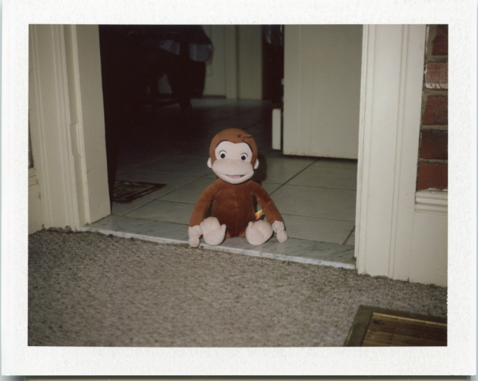 Curious George, with Polaroid 490 Focused Flash