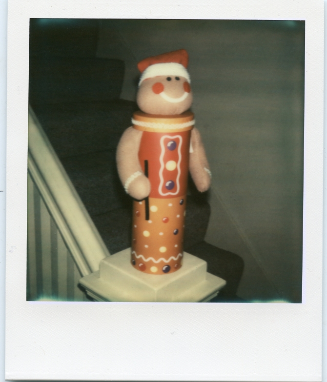 The Gingerbread Man- same test subject I used for Impossible films two years ago. he's looking a lot better now with Color Protection.