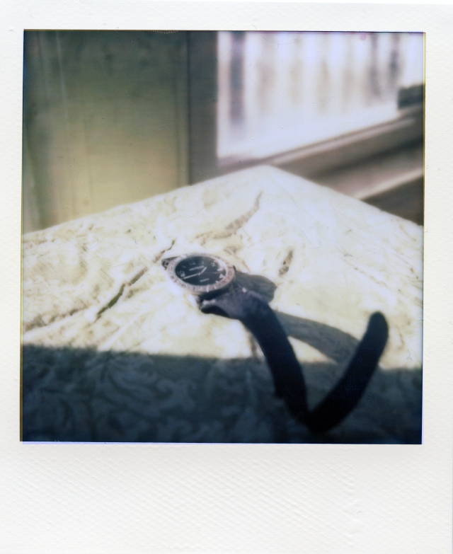 1 24 13 Waltham Watch Kitchen Table Impossible PX70 Color Protection Polaroid SX70 One Third Darken