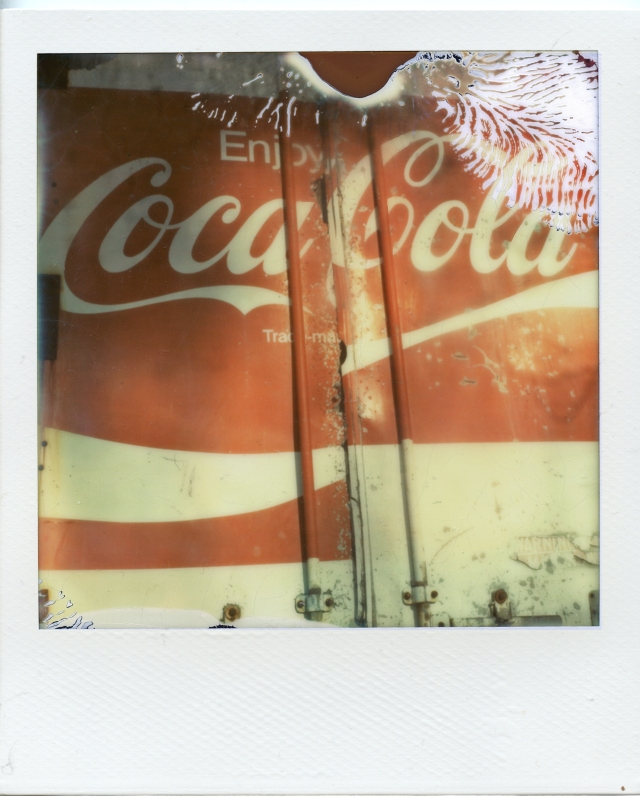 1 6 13 Back of Coca Cola Truck Milford NH Polaroid SX70 Impossible Project PX70 Color Protection