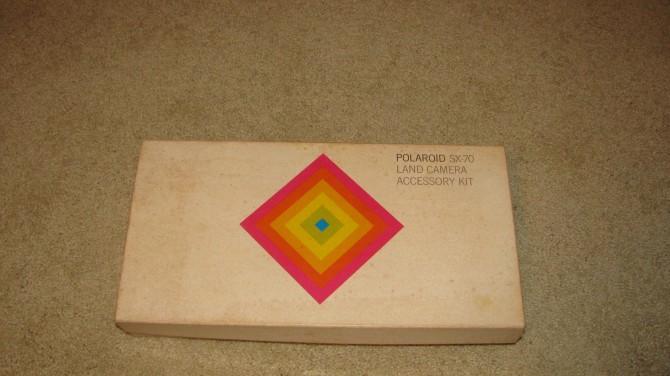 Classic Paul Giambarba designed SX70 colors and branding.