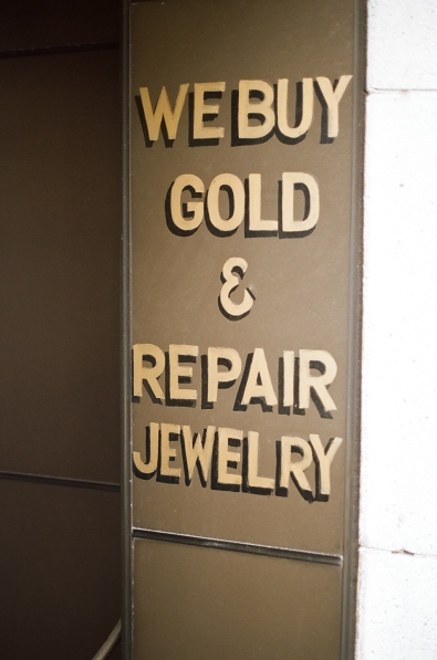 Who Isn't Buying Gold In This Economy? I Love The Retro Fonts.