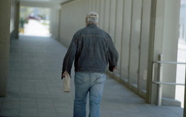 Homeless Man, Downtown Worcester- Canon AE-1, 135mm f/2.8 FD, Kodak Portra 400