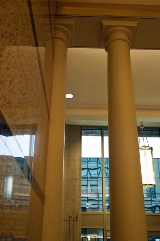 Lobby columns.