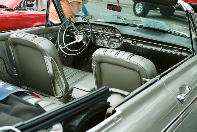 This Galaxie 500 convertable had a meticulously restored and maintained interior.