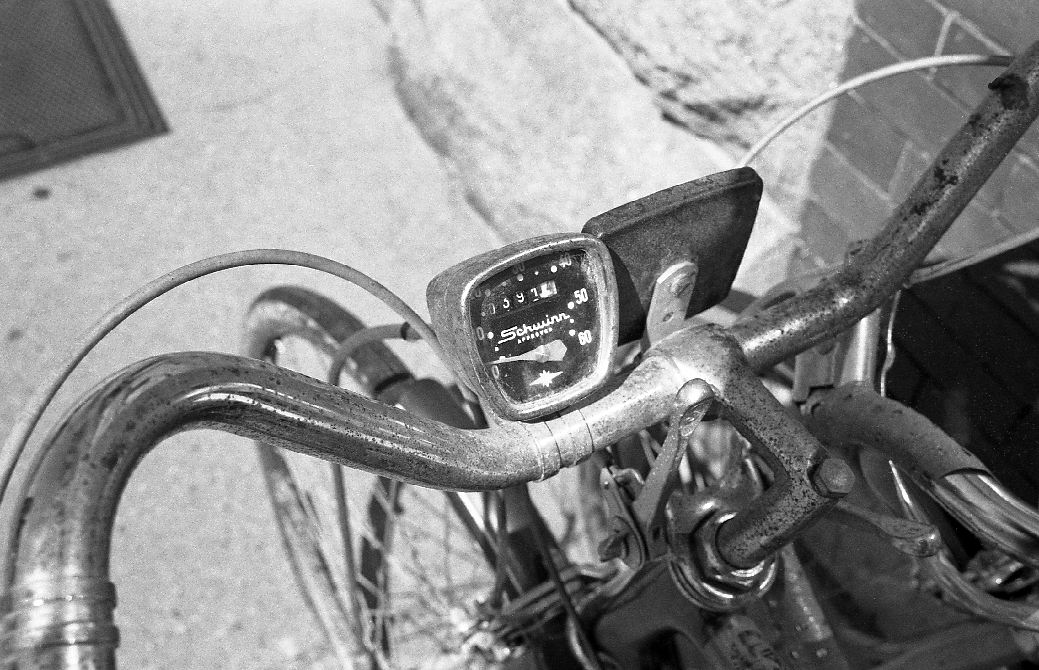 A Vintage Schwinn Bicycle And Ilford Delta 100 Professional