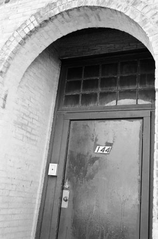 Vintage doorway on Green Street.