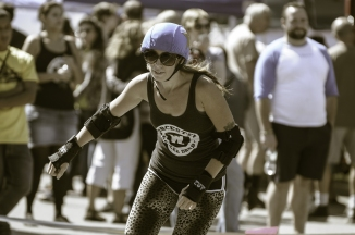 Roller Derby, vignetting courtesy of Lightroom preset.