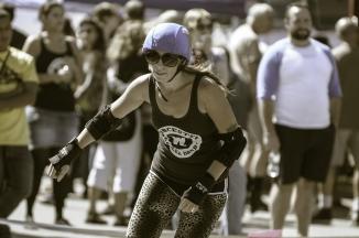 Roller Derby, vignetting courtesy of Lightroom preset.