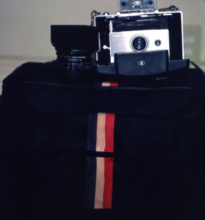 Carl Zeiss Hasselblad lens meets Polaroid Model 100, still the best way to exploit instant pack film.