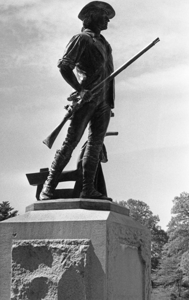 Minuteman Statue, Concord, MA The lens aperture was stopped down to a fairly small aperture here.